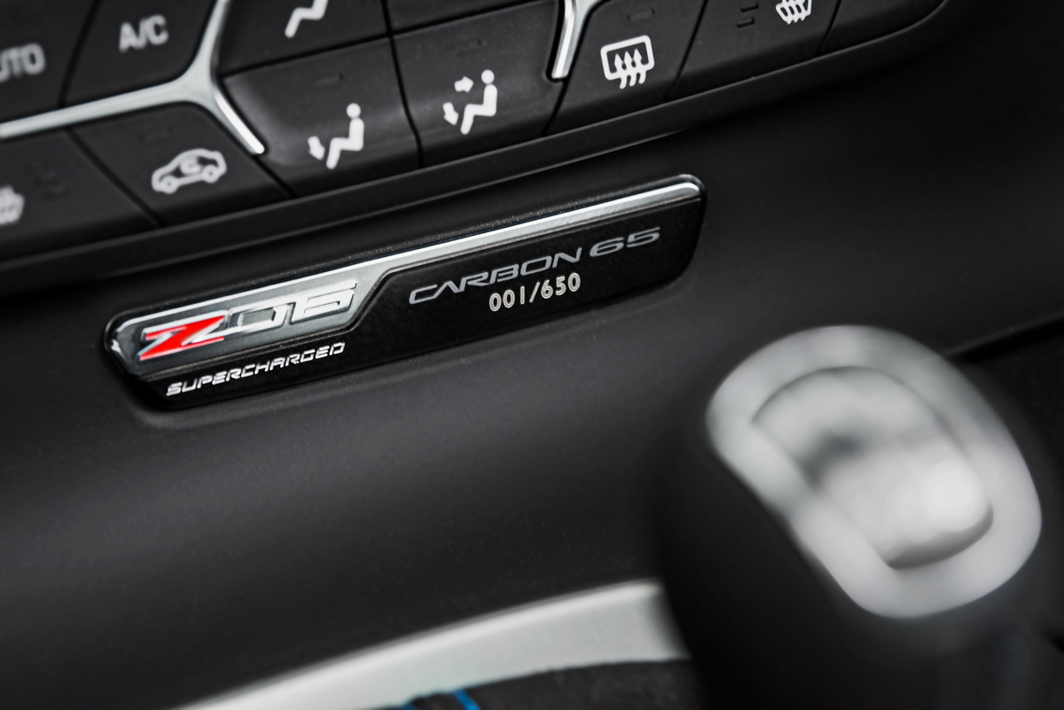 All Carbon 65 Edition cars feature a numbered interior plaque.
